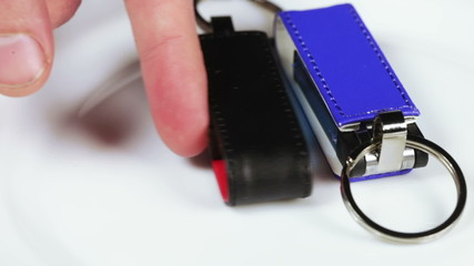 Colored flash drives