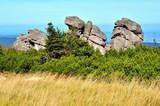 Formation of rocks. Karkonosze National Park in Poland.