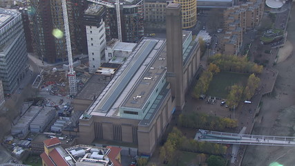 Aerial view above the Tate Modern art gallery in London