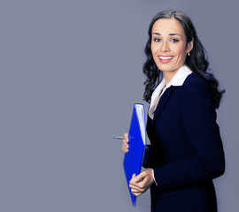 Businesswoman with folder