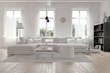 Leinwandbild Motiv Modernes geräumiges Wohnzimmer im skandinavischen Design