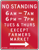 No Standing Except Farmers Market poster