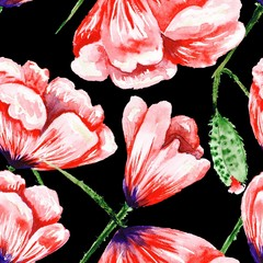 Dramatic Romas Floral Pattern