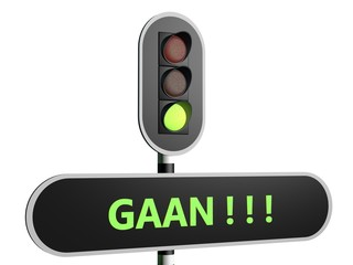 """Stoplicht op groen """"Gaan"""""""