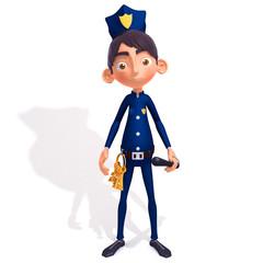 Policeman 3d illustration