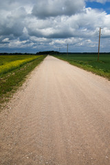 Gravel road.