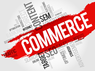 COMMERCE word cloud, business concept