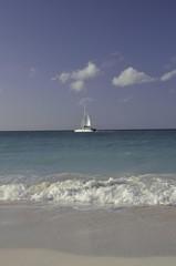 Båt på stilla hav