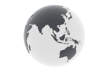 Erde Asien Australien - dunkelgrau hellgrau