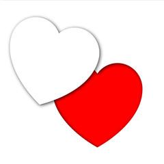 Icono corazon recortado