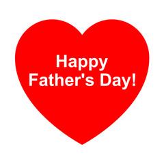 Icono texto happy father's day en corazon