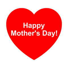 Icono texto happy mother's day en corazon