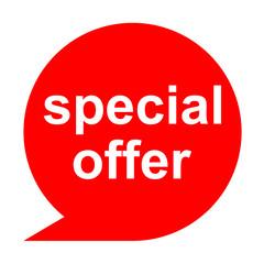 Icono texto special offer