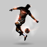 Fototapety abstract soccer jumping touch ball