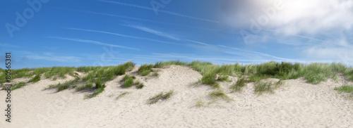 Canvas Noord Europa sand dunes near the beach in the summer