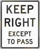 Keep Right Except To Pass - Indiana poster