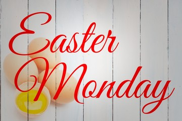 Composite image of easter monday