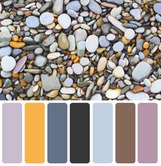 Sea stones background eco