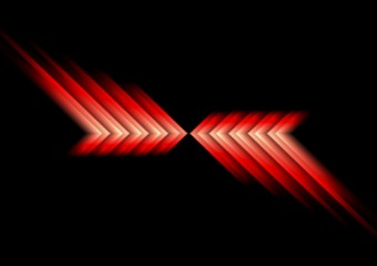 Glow red arrows abstract background