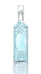 Bottle of vodka, isolated on white background
