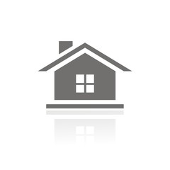 Icono casa ventana FB reflejo