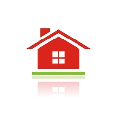 Icono casa ventana color FB reflejo