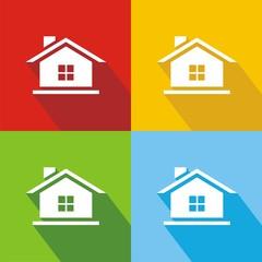 Iconos casa venta colores sombra