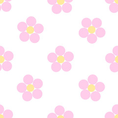 Seamless floral pattern on a white background. Vector