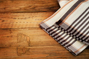 Tablecloth textile on  a old rustic background