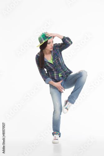 Foto op Plexiglas Dance School Portrait of street dancer