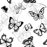 Pattern with butterfly