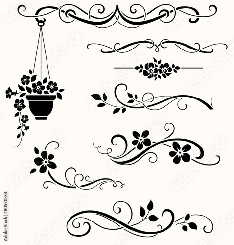 Zdjęcia na płótnie, fototapety, obrazy : Floral elements