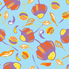Seamless colorful floral elements , chamomile 4