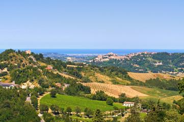 Panoramic view of Emilia-Romagna. Italy.