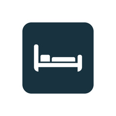 hotel icon Rounded squares button
