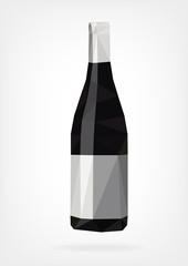 Low Poly Wine Bottle