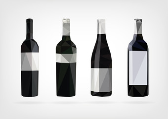 Low Poly Wine Bottle
