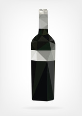 Low Poly Wine Bottles