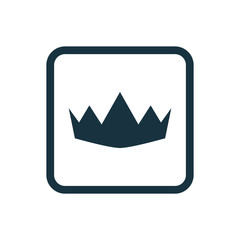 crown icon Rounded squares button