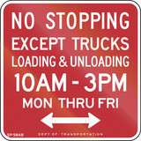 No Stopping Except Loading And Unloading poster