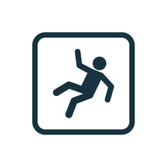 slippery floor icon Rounded squares button