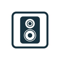 speaker icon Rounded squares button