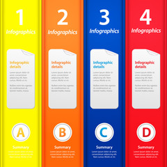 Multicolor folders infographic