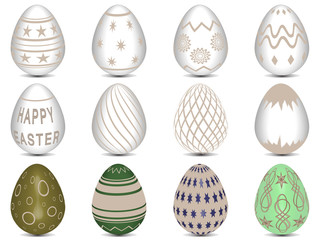 12 Tan Easter Eggs