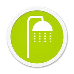Grüner runder Button: Dusche