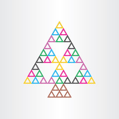 christmas tree happy new year symbol witg triangles