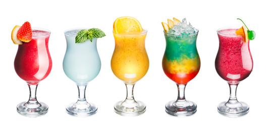 Set of summer cocktails