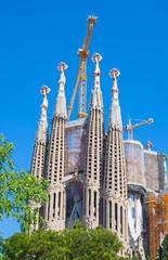 View of Sagrada.Barcelona, Spain