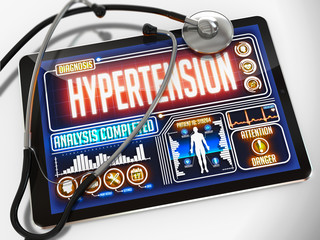 Hypertension on the Display of Medical Tablet.