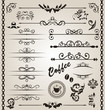 Set floral ornate design elements (7) - 80574776